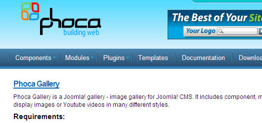 phoca gallery for joomla 1.5