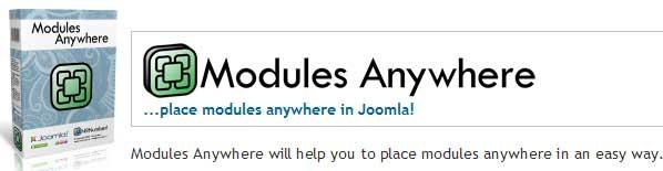 Вставить модуль в текст с помощью плагина Modules Anywhere
