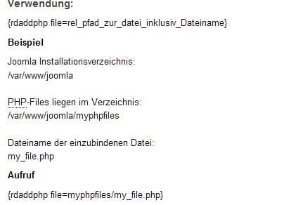 Вставка php кода в Joomla с помощью плагина Add PHP