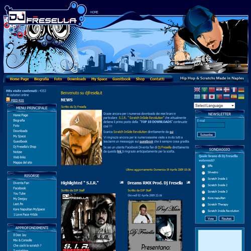 Сайт на Joomla 1.5, итальянского ди-джея DJ Fresella