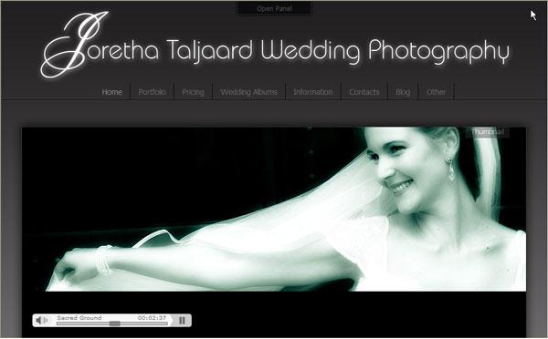 Сайт на Joomla 1.5, свадебного фотографа