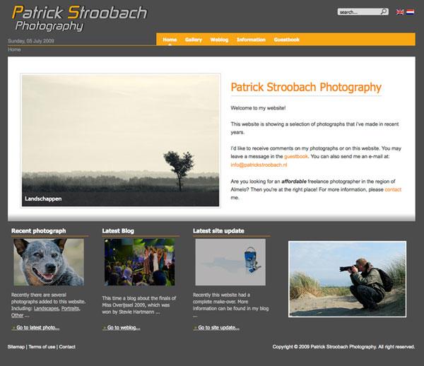 Сайт на Joomla 1.5, фотографа из Нидерландов