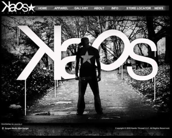 Сайт компании Kaos Lacrosse