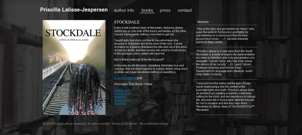 Сайт писательницы Priscilla Lalisse-Jespersen