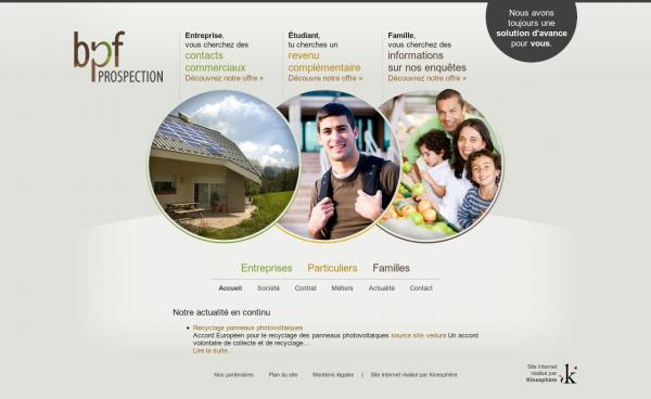 Сайт компании BPF Prospection