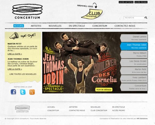 Сайт агентства Concertium