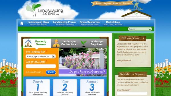 Сайт компании LandscapingScene.com