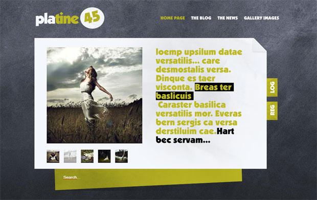Шаблон для сайта тематики Фото #Platine 45# на Joomla 1.5