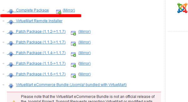 Скачать компонент VirtueMart