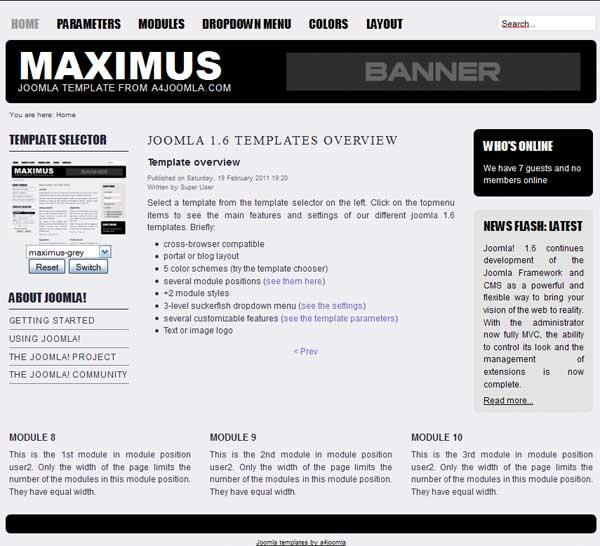 Скачать новостной шаблон Joomla 1.6