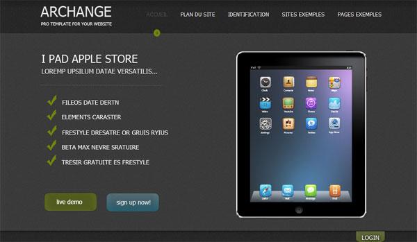 Скачать шаблон для Joomla 1.6 под Apple интернет магазин
