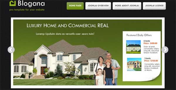 Скачать шаблон Joomla 1.5 для сайта по продаже домов