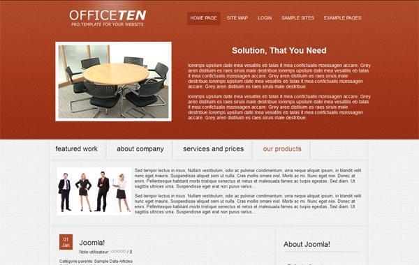 Скачать бизнес шаблон для Joomla 1.6 и Joomla 1.7 - Officeten