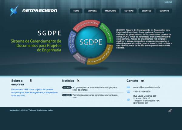 Красивый сайт бразильской компании программного обеспечения