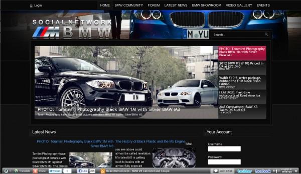 Отличный сайт для любителей автомобильной марки BMW