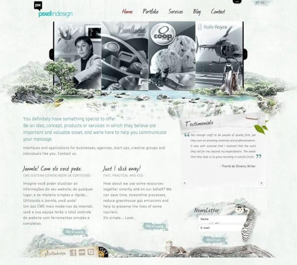 Красивый сайт бразильской студии веб-дизайна