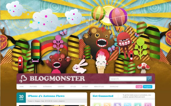 Классный шаблон от студии JoomlaJXT - BlogMonster