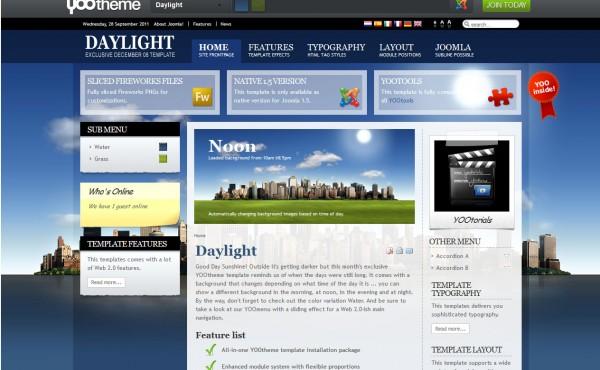 Еще один шаблон от студии YooTheme под названием Daylight