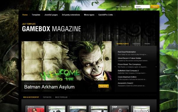 шаблон от студии GavickPro под названием Gamebox Magazine