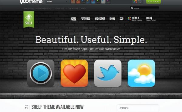 YooTheme и ее шаблон Shelf Theme