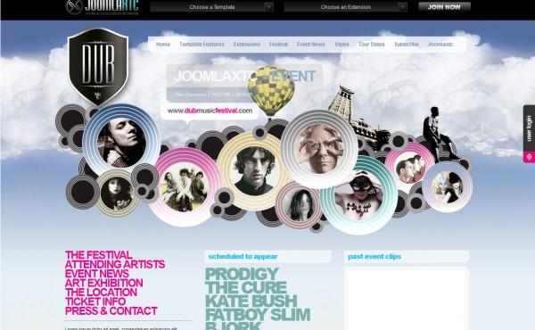 красивый шаблон от JoomlaJXT под названием Dub