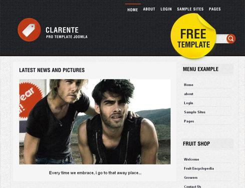 Светлый блоговый шаблон для Joomla 2.5 - Clarente