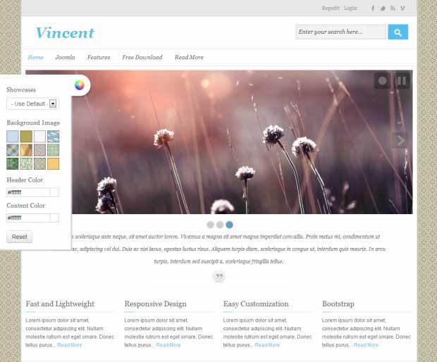 Адаптивный шаблон для Joomla 2.5 - Avatar Vincent
