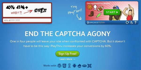 Капча PlayThru Captcha - защита от спама и ботов, проверка на человечность