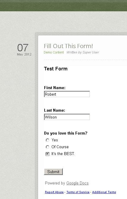 google-form-test
