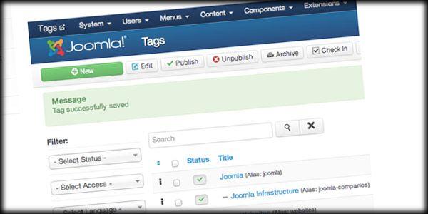 Состоялся релиз бета-версии Joomla 3.1 - теперь у нас есть теги!