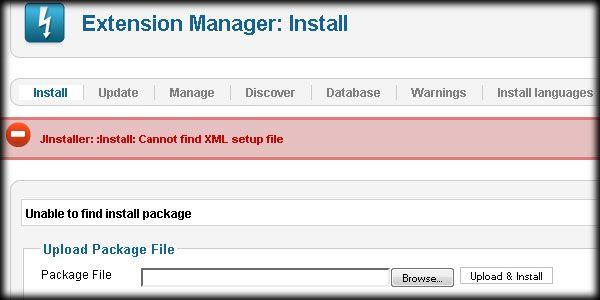 Установочный XML-файл не найден