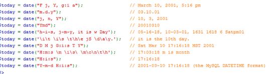 Полезные советы: Определения формата даты