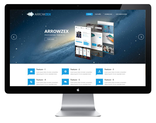 Адаптивный бизнес шаблон для Joomla 3.x - AT Arrowzex