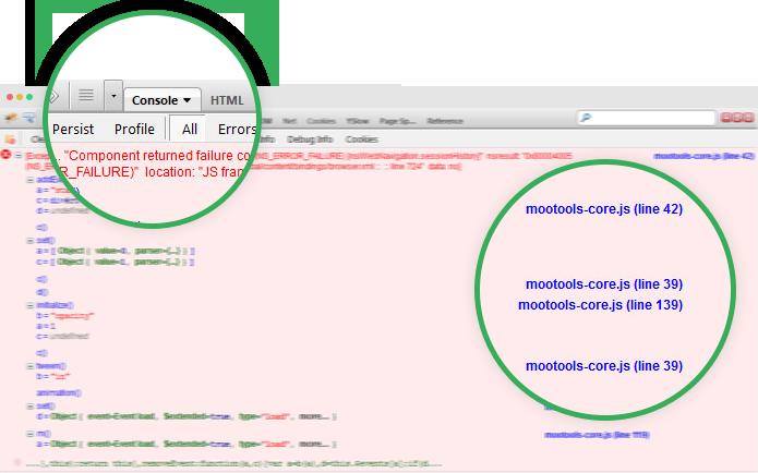 Обнаружение конфликта JavaScript в Joomla с использованием firebug на Firfox